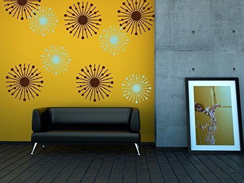 Amazon.com: Atomic Star Wall Decals, Atomic Starburst, Mid Century ...