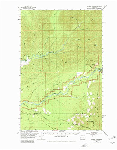 (YellowMaps Salmon River WA topo map, 1:62500 Scale, 15 X 15 Minute, Historical, 1956, Updated 1980, 21.9 x 17 in - Paper)