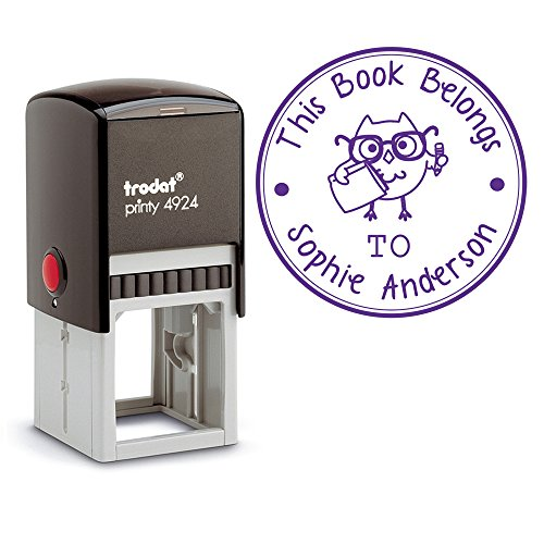 Purple Ink, Self Inking Personalized Teacher Stamp This B...