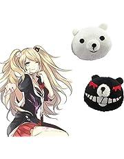 HAMISS Cheap 1 Pair Dangan Ronpa Danganronpa Hair Clip Junko Enoshima Mono Kuma Mono White Black Bear Anime Cosplay Headwear Girl Gift