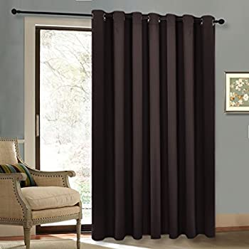 Blackout Patio Door Curtain   Thermal Sliding Door Insulated Curtains With  Grommet Top For Extra Wide