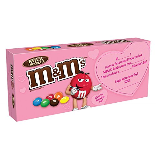 M&M's Valentine's Milk Chocolate Candy Gift Box, 3.1 Ounce, Pack of 2