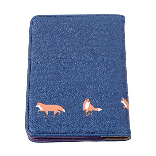 Myhouse Passport Holder Plants Animal Pattern Protective Travel Case Organizer for Passport (Fox)
