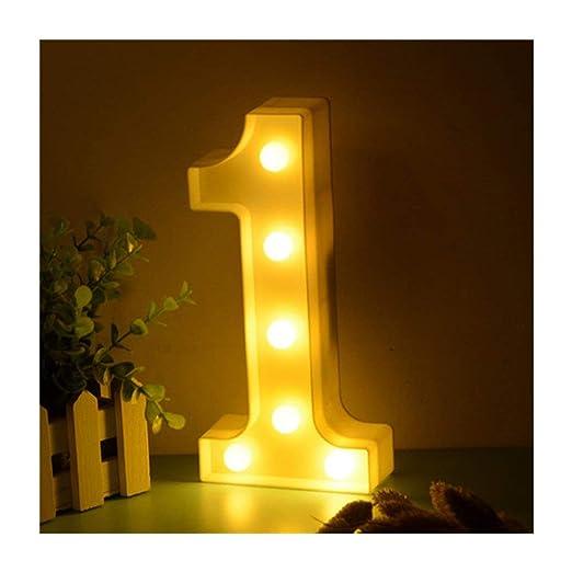 Luz LED con forma de número: 0, 1, 2, 3, 4, 5, 6, 7, 8 o 9 ...