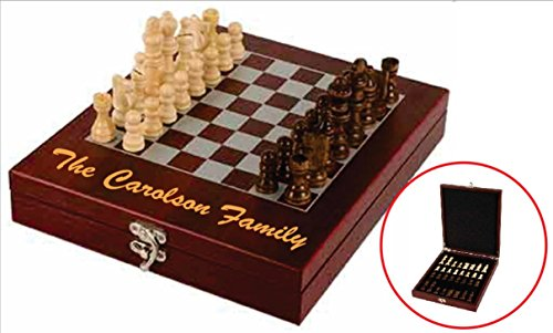 Custom ENGRAVED Chess Set Personalized