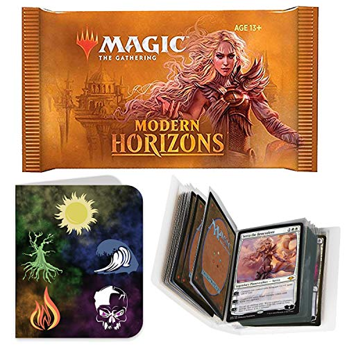 Totem World 1 Booster Pack of Magic The Gathering Modern Horizons with a Totem Mana Land Symbol Mini Binder Collectors Album - One MTG Pack for MH1 Booster Draft Lot