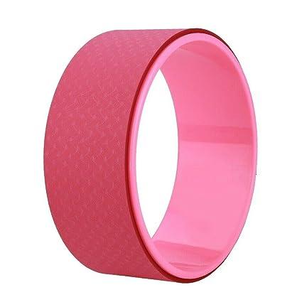 Amazon.com: Kabalo - Rueda de yoga rosa para ejercicio ...