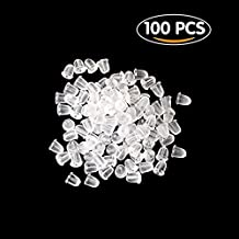 StaiBC 100 Clear Rubber Bullet Clutch Earring Safety Backs Ear Nuts Earring Keepers
