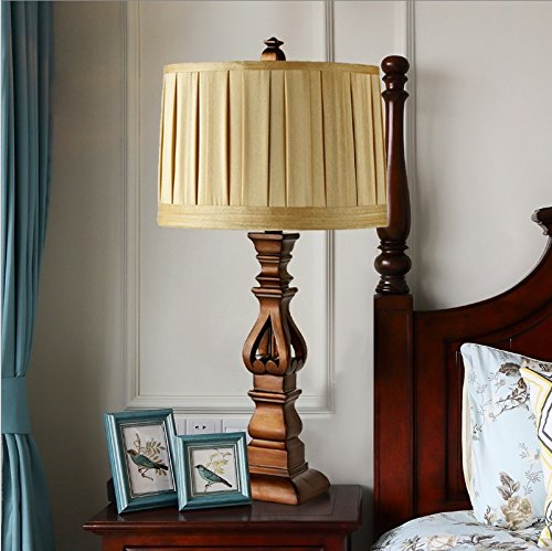 HH European luxury retro style desk lamp bedroom bedroom bed cloth lighting ( Size : L ) by FJB (Image #2)
