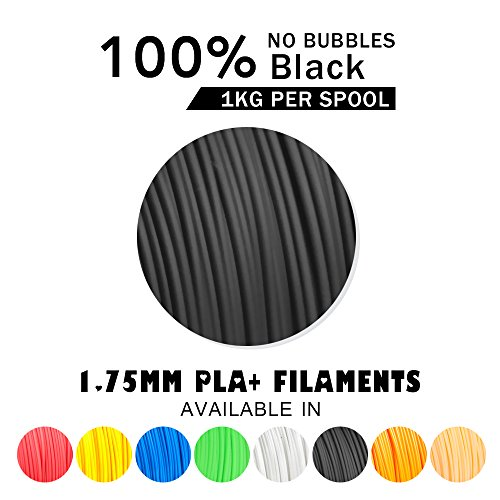 -[ SUNLU 3D Printer Filament PLA Plus Grey Black, PLA Plus Filament 1.75 mm,Low Odor Dimensional Ac