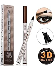 Ethradia Tattoo Eyebrow Pen With Four Tips Brow Pen...