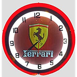 Ferrari 19 Double Neon Clock