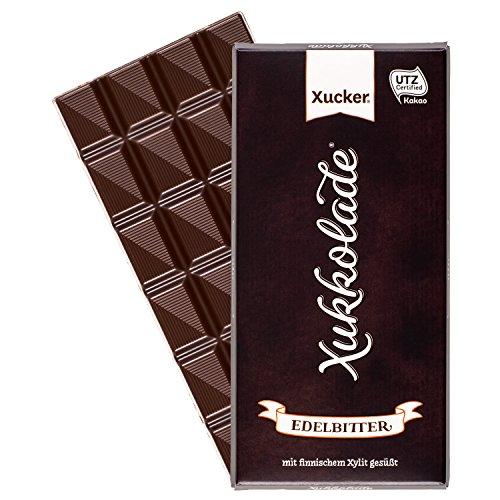 Xucker Xylit-Edelbitterschokolade mit 75%, 5er Pack (5 x 100 g)