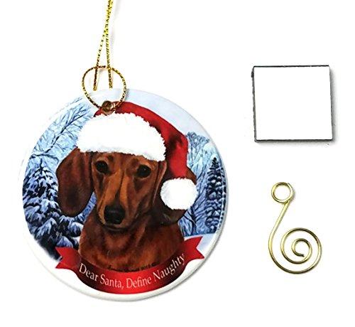 Dachshund (Red) Christmas Ornament 3