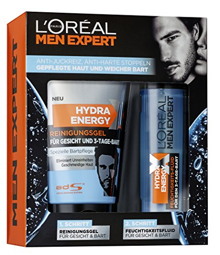 L'Oréal Men Expert Pflegeset für Gesicht und 3-Tage-Bart, 1 Stück