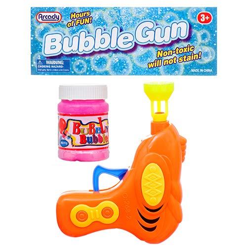 New 366279 Hs Bubble Gun 4.25 Asst Clr