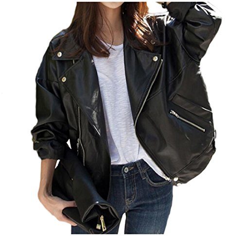 Oversized Motorcycle Jacket - 9