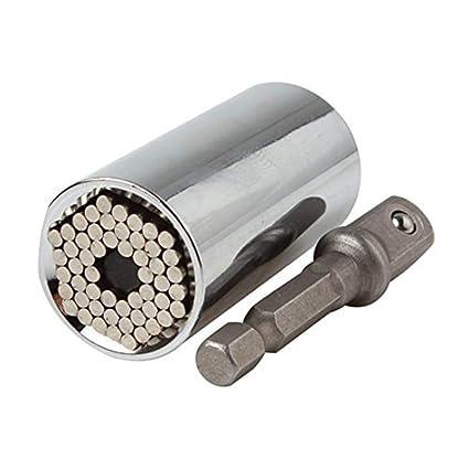 Universal Steckschlüssel Adapter,Dreiteiliger Anzug, 0.3 bis 0.7 Zoll Magie Schlüsselgriff Mit Automatischem Einstellbohradapter, Geeignet Für 0.3 bis 0.7 ...