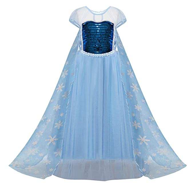 Amazon.com: Elsa Vestido de princesa para bebé, niña, nieve ...