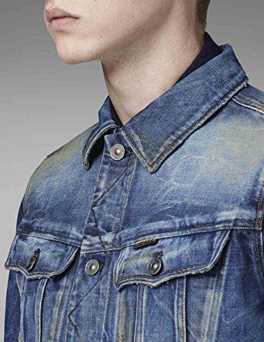 510f087308a G-Star Raw Men's Slim Tailor 3D Denim Jacket In Nolds Denim Vintage Medium  Aged