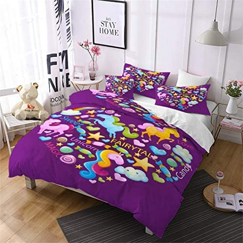 263 With Duvet Cover,Pillow Cases /& Fitted Sheet 3D Effect Bedding Complete Set