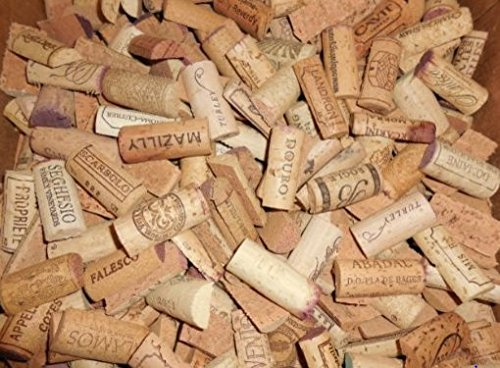 Pre-Cut Recycled Wine Corks, Halves by Sendit Retailers - 100 Count
