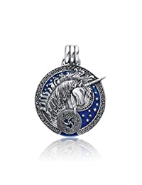 Bling Jewelry .925 Sterling Silver Blue Celtic Unicorn Pendant