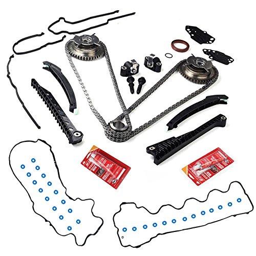 BLACKHORSE-RACING Fits 5.4L VVTi Camshaft Phaser Sprocket+Timing Chain Kit +Timing Cover Gaskets # 3R2Z6A257DA, 3L3E6C524FA 917-250 3R2Z6A257DA