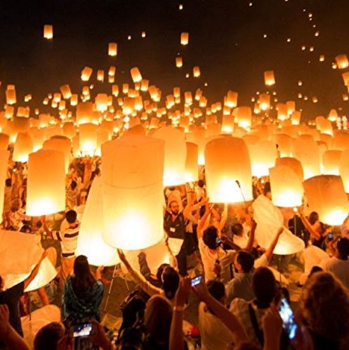 [White Paper Chinese Lanterns Floating Sky Wedding Party Birthday Balloon Bulk Lots 50] (Easy King Of Hearts Costume)