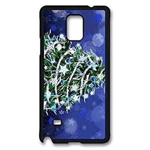 Christmas Tree Custom Back Phone Case for Samsung Galaxy Note 4 PC Material Black -1210109