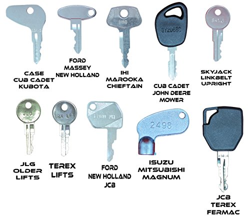 TORNADO HEAVY EQUIPMENT PARTS Construction Equipment Master Keys Set-Ignition Key Ring for Heavy Machines, 64 Key Set by TORNADO HEAVY EQUIPMENT PARTS (Image #4)