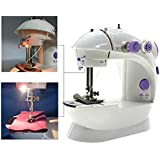ZDELHI Sewing Innovations Portable & Desktop Multifunctional Mini Sewing Machine With foot pedal bobbin & Adapter