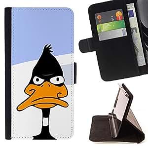 - Funny Black Cartoon Duck/ Personalizada del estilo del dise???¡¯???¡Ào de la PU Caso de encargo del cuero del tir???¡¯????n del s - Cao - For HTC DESIRE