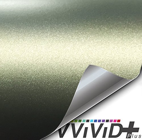 Military Wrap (VViViD+ Matte Metallic Military Green (Ghost) Vinyl Wrap Roll (25ft x 5ft))