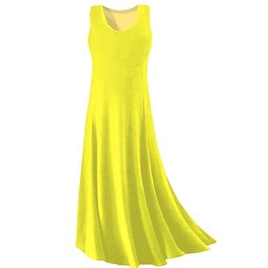 Yellow tank maxi dress