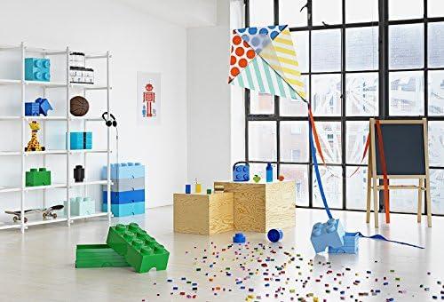 LEGO Aufbewahrungsstein, 8 Noppen, Stapelbare Aufbewahrungsbox, 12 l, türkis