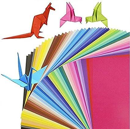 Origami - 100 hojas de papel cuadriculado doble cara de ...