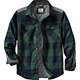 quilted plaid jacket - Legendary Whitetails Men's Woodsman Quilted Shirt Jacket Evergreen Plaid X-Large Tall