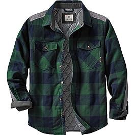 Legendary Whitetails Men's Woodsman Heavyweight Quilted Flannel Shirt Jacket