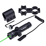 FeelRight Green Dot Adjustable Sight Scope with On/off Switch + Picatinny/Weaver Mounts + Barrel Mount