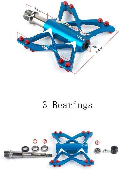 PROMEND Butterfly Aluminium Pedals MTB Mountain Road Bike 3 Bearings Pedal 1Pair