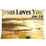 Christian Jesus Christ Zippered Pillow Case Cushion Case Pillow Cover 20x30(two sides)