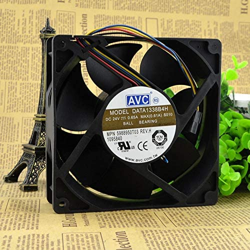 for AVC DATA1338B4H 24V 12738 0.65A Dual Ball Temperature Controlled Cooling Fan