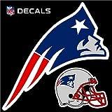 Stockdale Technologies New England Patriots 12'' Logo Decal with Bonus Decal Reusable Auto Home Football