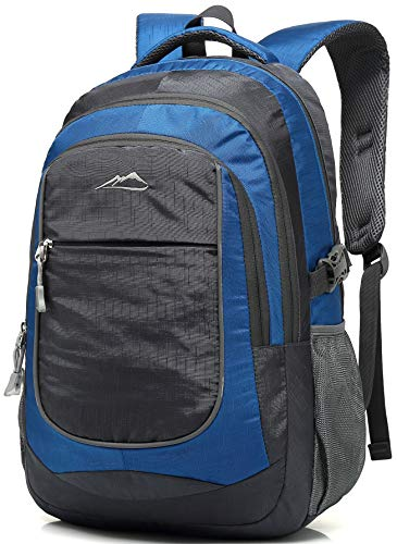 School Backpack For College Travel Hiking Fit Laptop Up to 15.6 Inch Water Resistant (Blue) by ProEtrade
