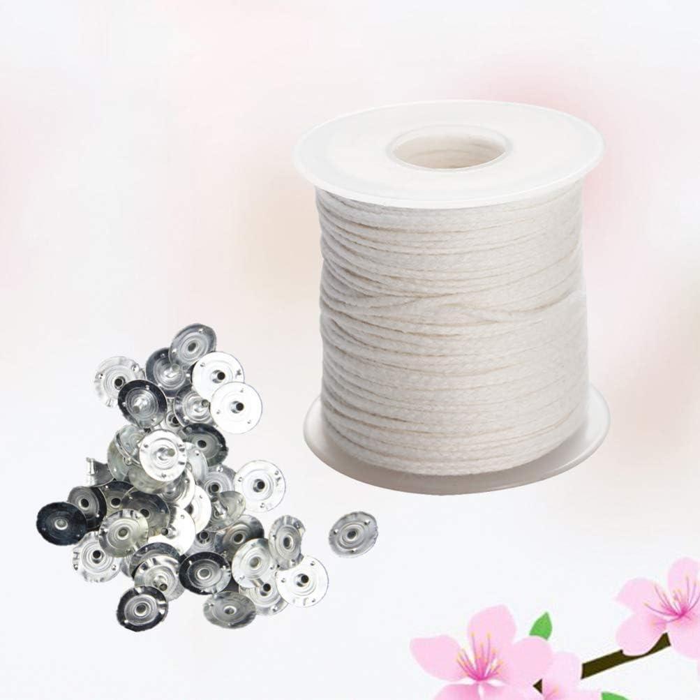 HEALLILY mecha trenzada de algodón con pestañas de mecha material para hacer velas manualidades diy