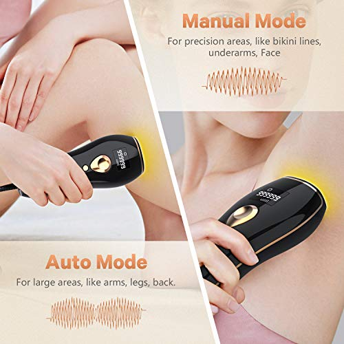 At Home IPL Hair Removal for Women And Men Permanent Laser hair removal Upgraded to 999,999 Flashes Painless Hair Remover Device for Facial Legs Arms Whole Body