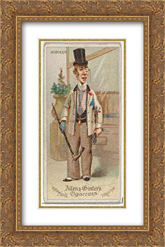 Allen & Ginter - 26x40 Gold Ornate Frame and Double Matted Museum Art Print - Hoboken, from World