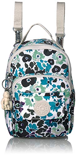 Kipling womens Alber 3-In-1 Convertible Mini Backpack, Blue field Floral, One Size
