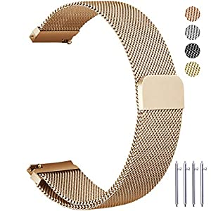 Metal Watch Bands, Vetoo Mesh Watch Straps, 22mm 20mm 18mm, Milanese Loop Quick Release Magnetic Closure Stainless Steel Replacement Wristband